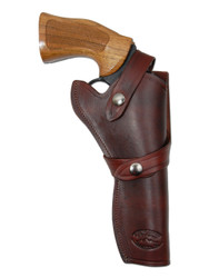 "Burgundy Leather Western Style Holster for 6"" Revolvers"
