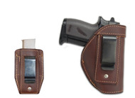 Brown Leather Inside the Waistband Holster + Magazine Pouch for Mini/ Pocket 22 25 32 380 Pistols