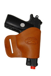 Saddle Tan Leather Yaqui Holster for 380 Ultra Compact 9mm 40 45 Pistols