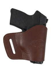 Brown Leather Yaqui Holster for 380 Ultra Compact 9mm 40 45 Pistols