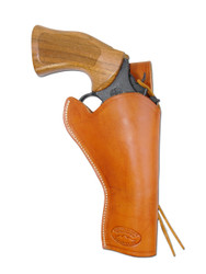 "Saddle Tan Leather 49er Western Style Holster for 4"" Revolvers"