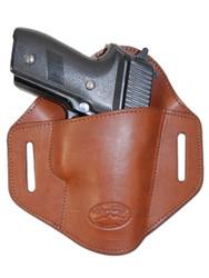 Brown Leather Pancake Belt Slide Holster for Full Size 9mm 40 45 Pistols