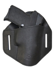 Black Leather Pancake Belt Slide Holster for 380 Ultra Compact 9mm 40 45 Pistols