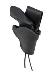 """Black Leather Western Holster for 2"""" Snub Nose 22 38 357 41 44 Revolvers"""