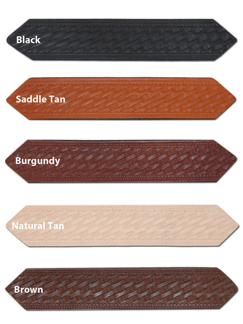 """1 1/2"""" Basket-weave Leather Belts for Sizes 54"""" - 62"""""""