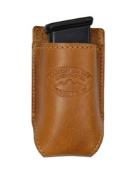 Saddle Tan Leather Single Magazine Pouch