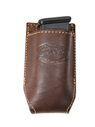 New Brown Leather Single Magazine Pouch (#CBR1MAG)