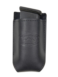 New Black Leather Single Magazine Pouch (#CBL1MAG)