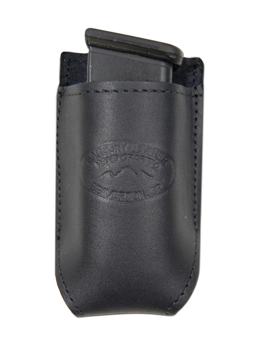 Black Leather Single Magazine Pouch