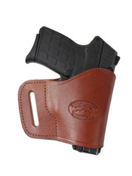 Burgundy Leather Yaqui Holster for 380 Ultra Compact 9mm 40 45 Pistols