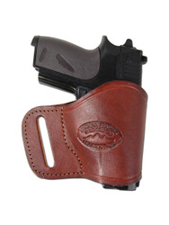 Burgundy Leather Yaqui Holster for Mini/ Pocket 22 25 32 380 Pistols