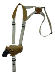 "Olive Drab Leather Horizontal Shoulder Holster for 2"" Snub Nose Revolvers"