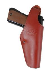 Burgundy Leather OWB Holster for Full Size 9mm 40 45 Pistols