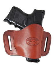 Burgundy Leather Quick Slide Holster for Compact Sub-Compact 9mm 40 45 Pistols
