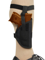 ankle holster for compact sub-compact pistols with laser