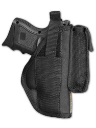 Belt Holster with Magazine Pouch for Compact Sub-Compact 9mm 40 45 Pistols with LASER