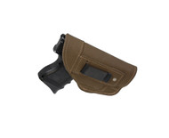 Olive Drab Leather Inside the Waistband Holster for Compact Sub-Compact 9mm 40 45 with LASER