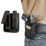 Ambidextrous Pancake Holster + Magazine Pouch for Mini/Pocket .22 .25 .32 .380 Pistols with LASER