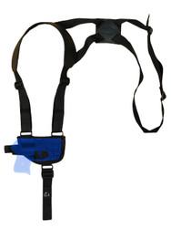 Horizontal Shoulder Holster for Mini/Pocket .22 .25 .32 .380 Pistols with LASER