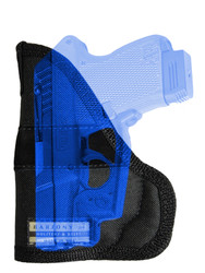 Ambidextrous Pocket Holster for Mini/Pocket .22 .25 .380 .32 Pistols with LASER