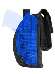 New OWB Belt Gun Holster w/ Magazine Pouch for .380 Ultra Compact 9mm .40 .45 Pistols with LASER (#L42-2)