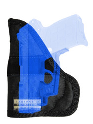 Ambidextrous Pocket Holster for Compact 9mm .40 .45 Pistols with LASER