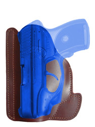 Burgundy Leather Ambidextrous Pocket Holster for Compact 9mm .40 .45 Pistols with LASER