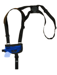 New Horizontal Cross Harness Gun Shoulder Holster for .380 Ultra-Compact 9mm .40 .45 Pistols with LASER (#L42HOR)