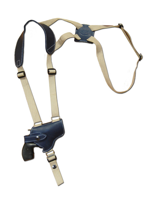 "LIMITED EDITION Navy Blue Leather Shoulder Holster for 2"" Snub Nose Revolvers"