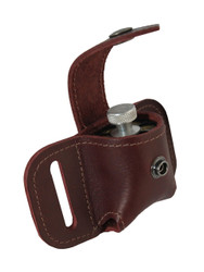 Burgundy Leather Belt Loop Single Speed Loader Pouch for .22 .38 .357 Revolvers