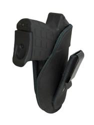 Black Leather Tuckable IWB Holster for Mini/Pocket .22 .25 .380 Pistols