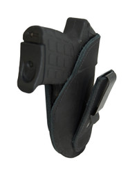Black Leather Tuckable IWB Holster for 380, Ultra Compact 9mm 40 45 Pistols