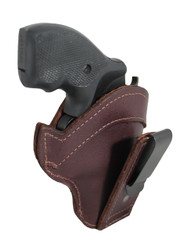 "Burgundy Leather Tuckable IWB Holster for Snub Nose 2"" 22 38 357 41 44 Revolvers"