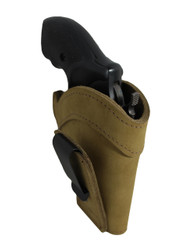 "Olive Drab Leather Tuckable IWB Holster for Snub Nose 2"" 22 38 357 41 44 Revolvers"