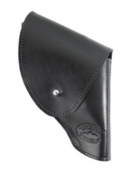 "New Black Leather Flap Holster for Snub Nose 2"" 22 38 357 41 44 Revolvers (#FL2BL)"