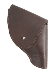 "New Brown Leather Flap Holster for Snub Nose 2"" 22 38 357 41 44 Revolvers (#FL2BR)"