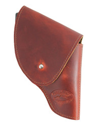"New Burgundy Leather Flap Holster for Snub Nose 2"" 22 38 357 41 44 Revolvers (#FL2BU)"