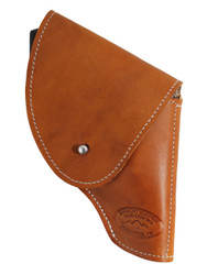 "Saddle Tan Leather Flap Holster for Snub Nose 2"" 22 38 357 41 44 Revolvers"