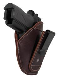 Burgundy Leather Tuckable IWB Holster for Mini/Pocket .22 .25 .380 Pistols