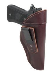 Burgundy Leather Tuckable IWB Holster for Full Size 9mm .40 .45 Pistols