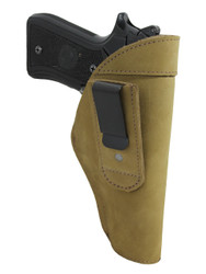 Olive Drab Leather Tuckable IWB Holster for Full Size 9mm .40 .45 Pistols