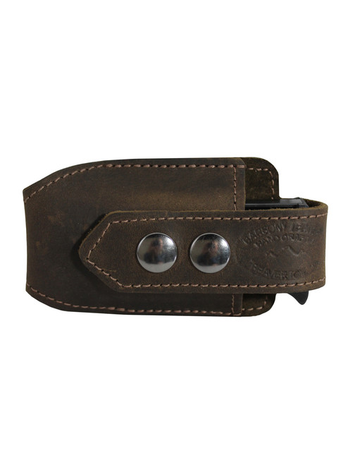 Brown Leather Horizontal Single Magazine Pouch