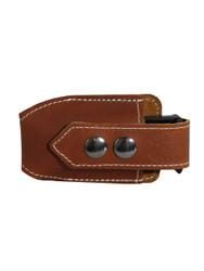 Saddle Tan Leather Horizontal Single Magazine Pouch
