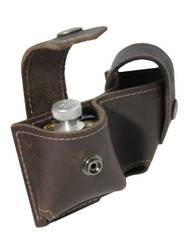 Brown Leather Revolver Double Speed Loader Pouch .22 .38 .357