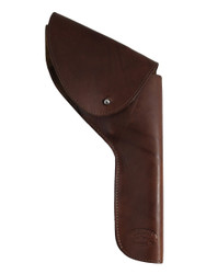 "Brown Leather Flap Holster for 6"" Revolvers"