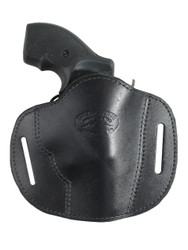 "Black Leather Pancake Belt Slide Holster for 2"" Snub Nose Revolvers"