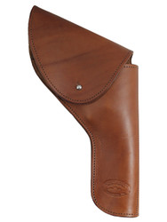 "Brown Leather Flap Holster for 4"" Revolvers"
