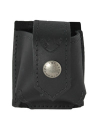 Black Leather Belt Clip Single Speed Loader Pouch for .22 .38 .357 Revolvers