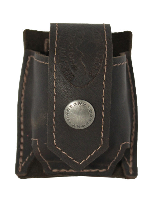 Brown Leather Belt Clip Speed Loader Pouch for .22 .38 .357 Revolvers