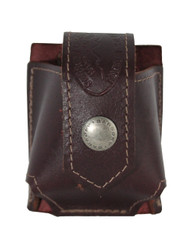 Burgundy Leather Belt Clip Speed Loader Pouch for .22 .38 .357 Revolvers